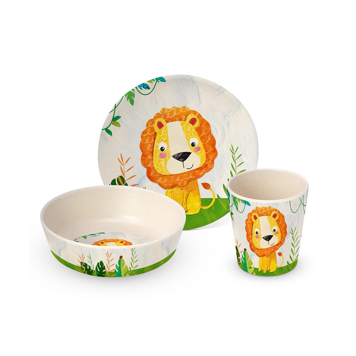 Dečiji set za jelo Happy Lion 603678