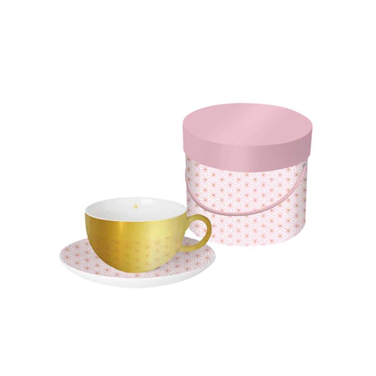 šolja za kafu roze zlatna 603377