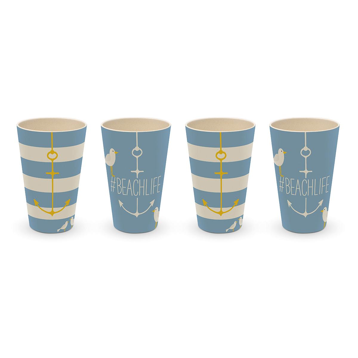 Set čaša/4 BEACH 604004