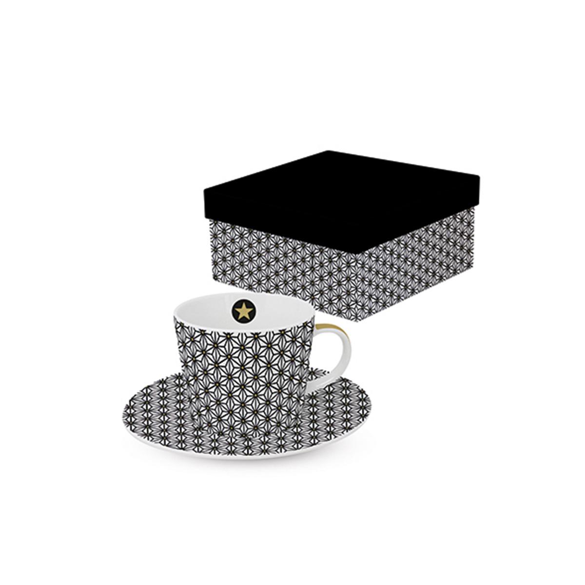 Šoljica za kafu crno bela 603873