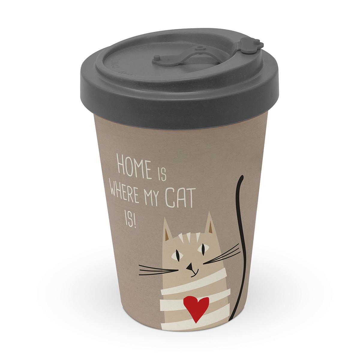Šolja za poneti HOME CAT 603493