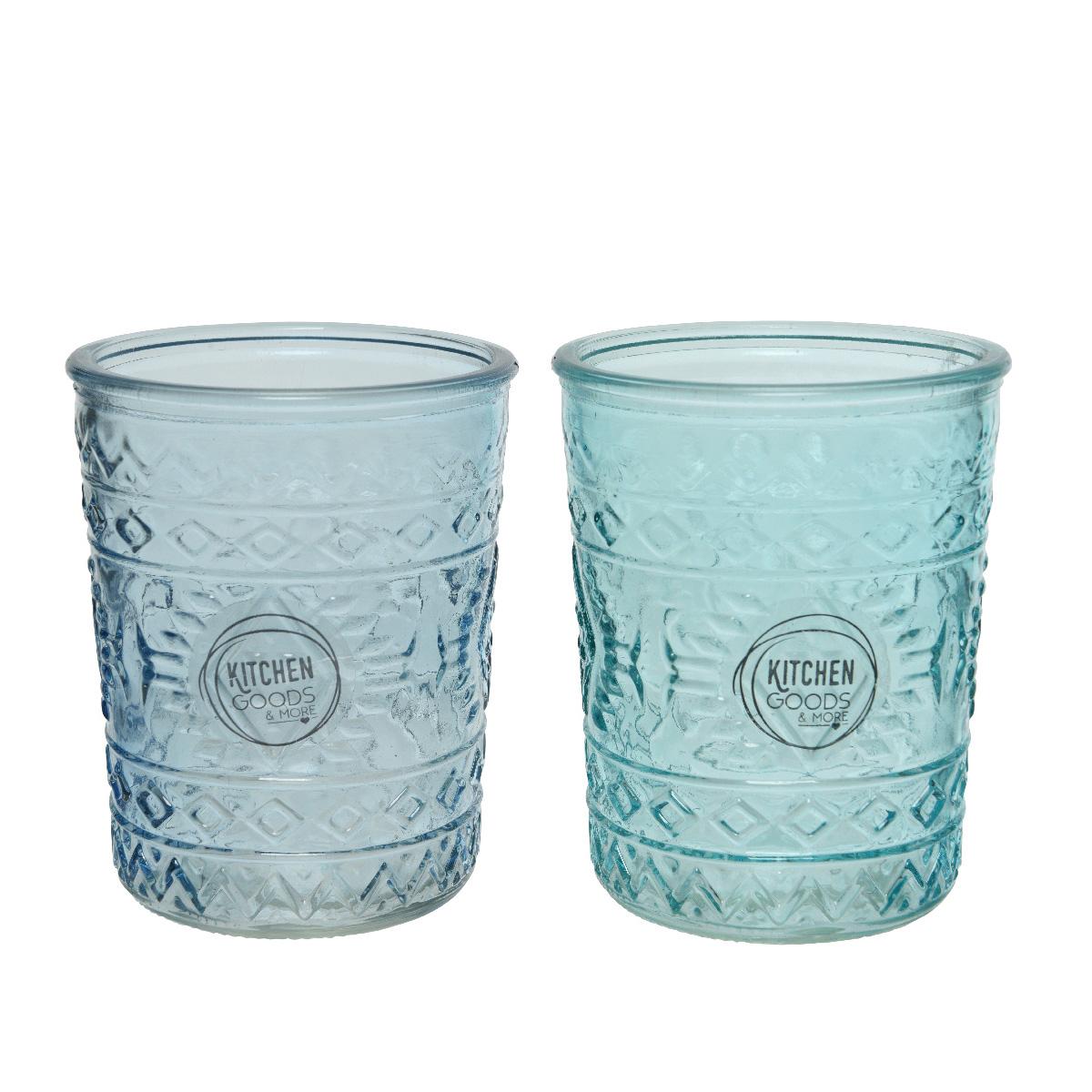 Staklena čaša u plavoj boji 825570