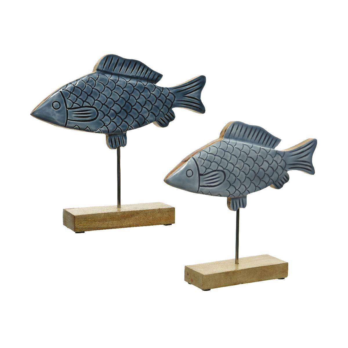 Dekorativna figura riba drvo 847903