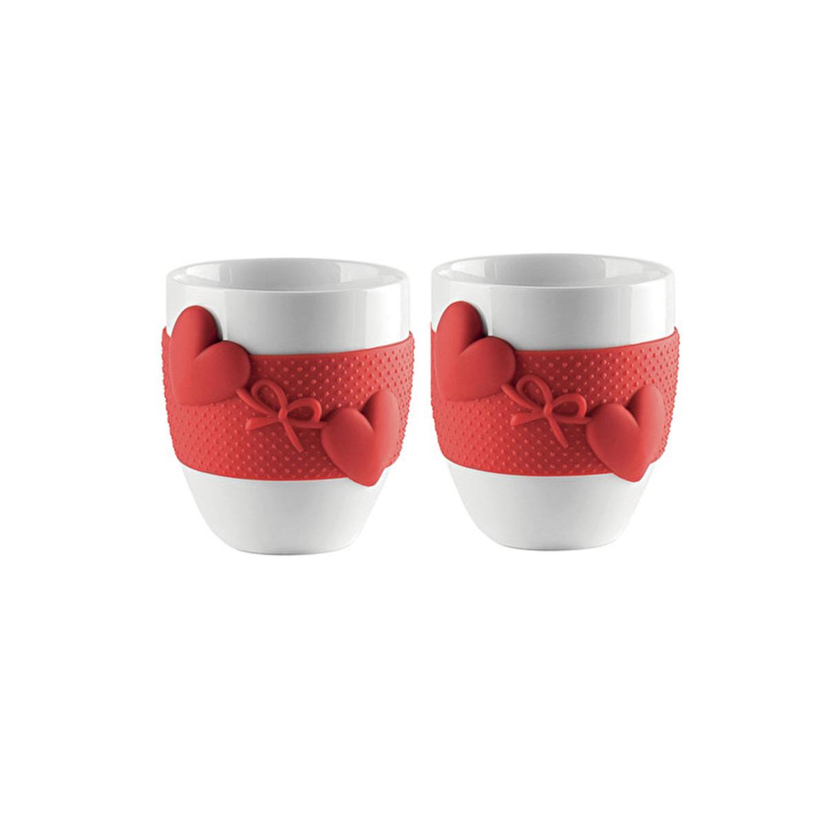 Set šolja za espresso Love 1149.00.55 crvene