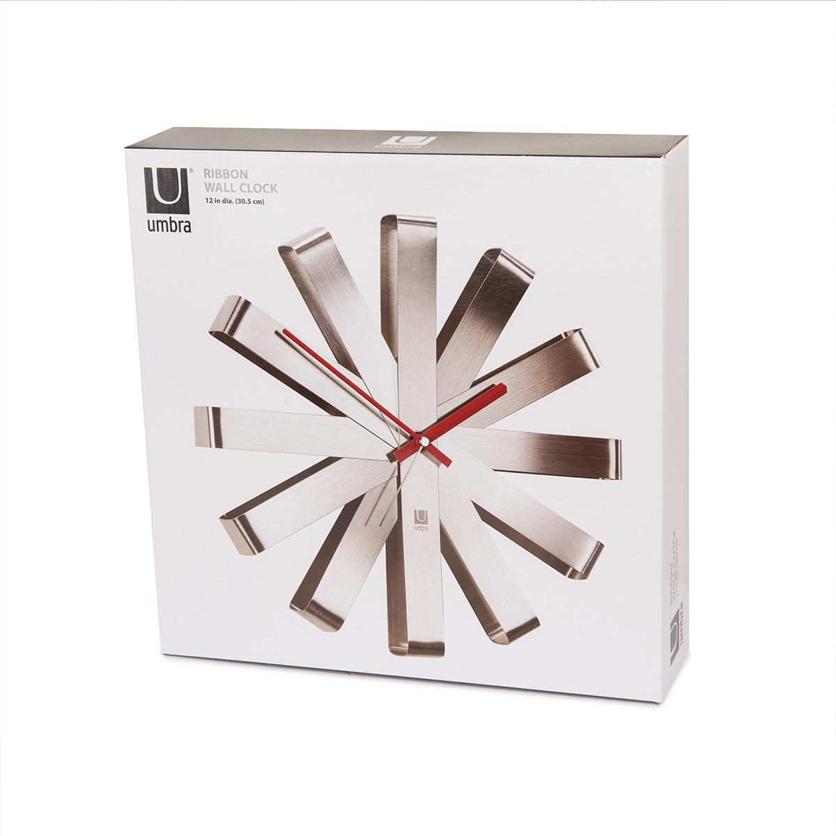 Zidni sat Ribbon mat hrom 118070-590