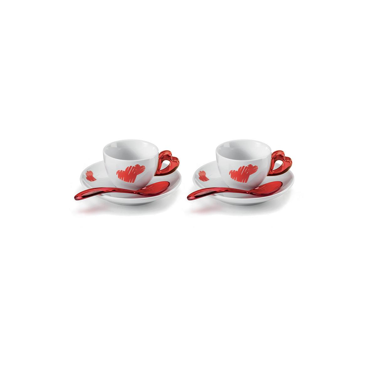 Set šolja za espresso Love 1141.00.65 crvene