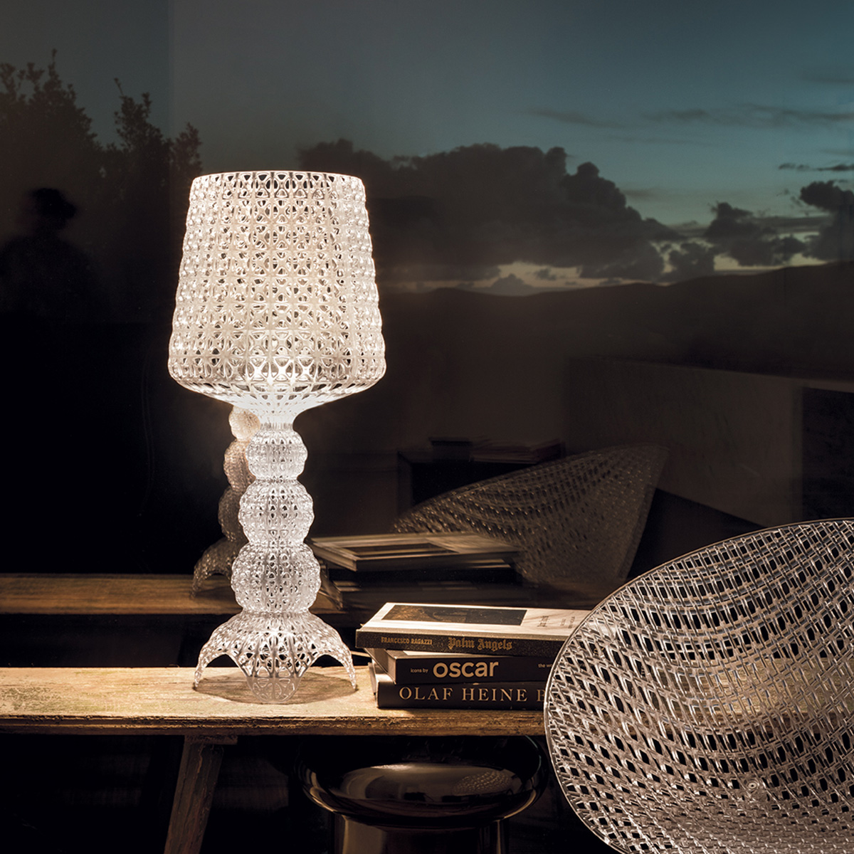 Stona lampa Kabuku kristal 9200/B4