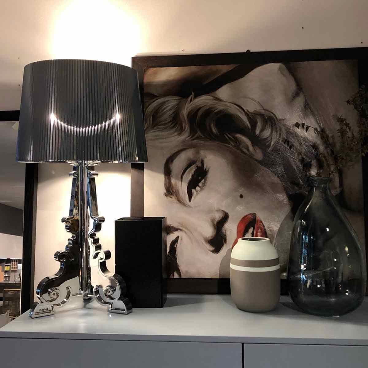 Stona lampa Bourgie srebrna  9072/00