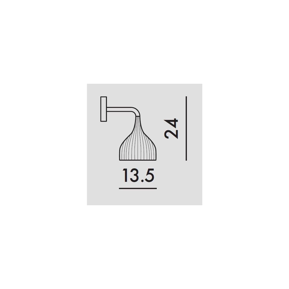Zidna lampa E 9045/Q8 crna