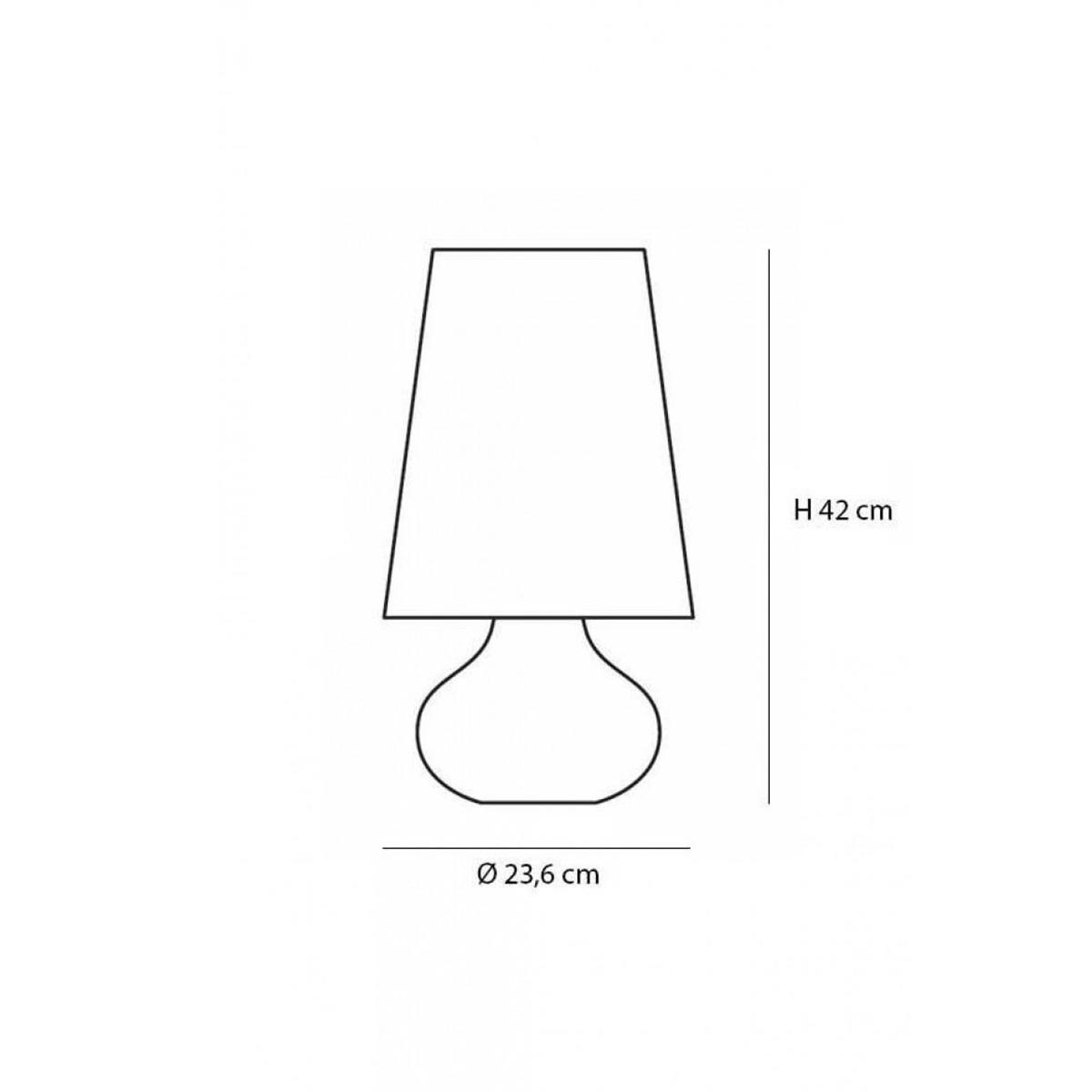 Stona lampa Cindy tamno siva 9100/M7
