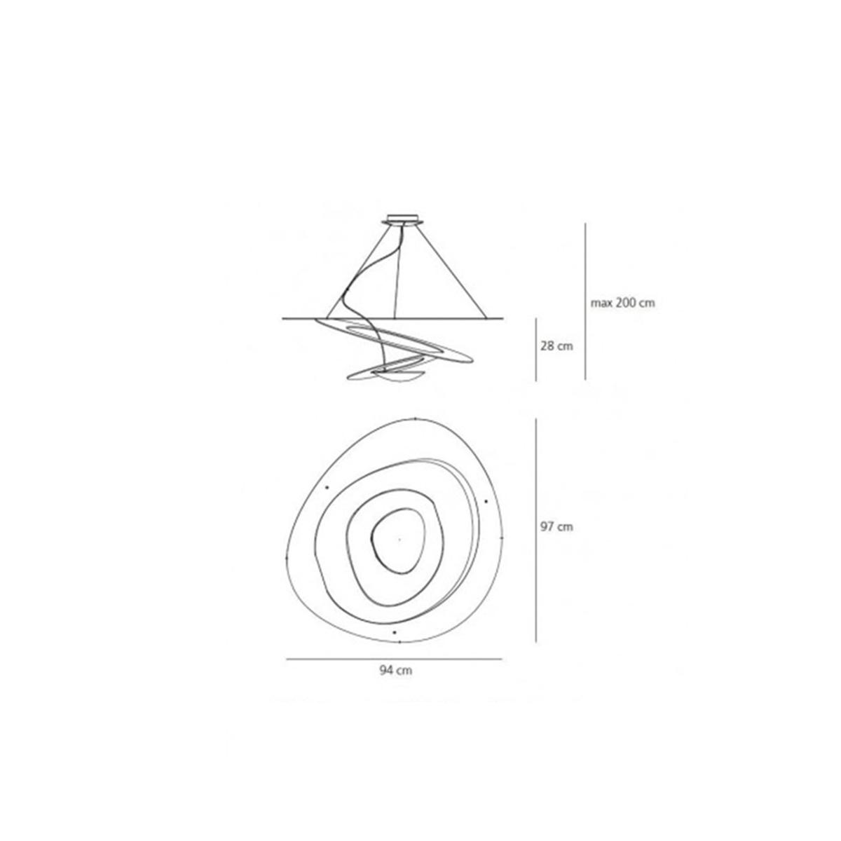 Artemide Pirce -luster 1239010A