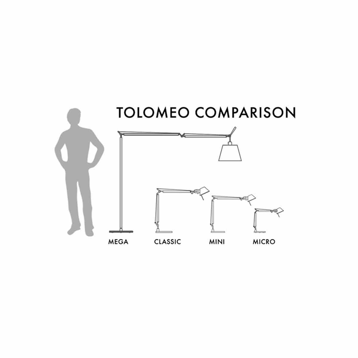 Stona lampa TOLOMEO MICRO BLACK