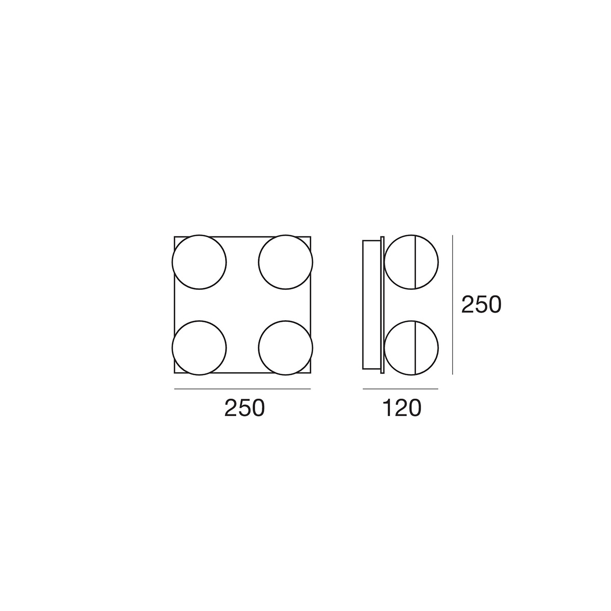 Plafonjera Bool P-5011