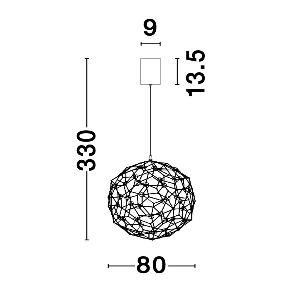 Led luster Sole 9186001