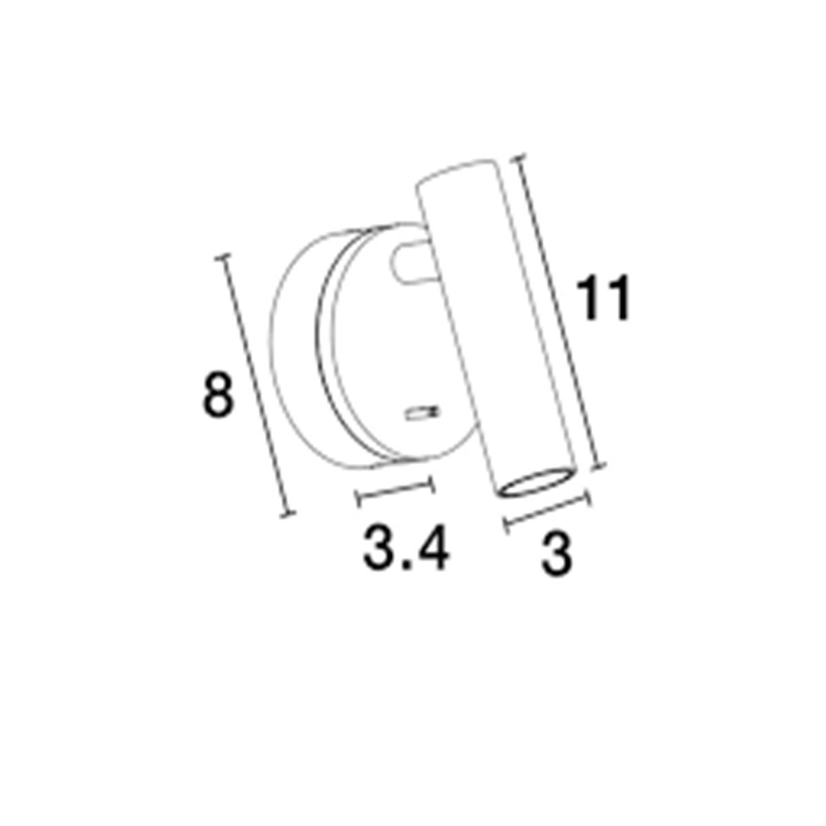 Zidna lampa Led CLIP  bela- 9030201