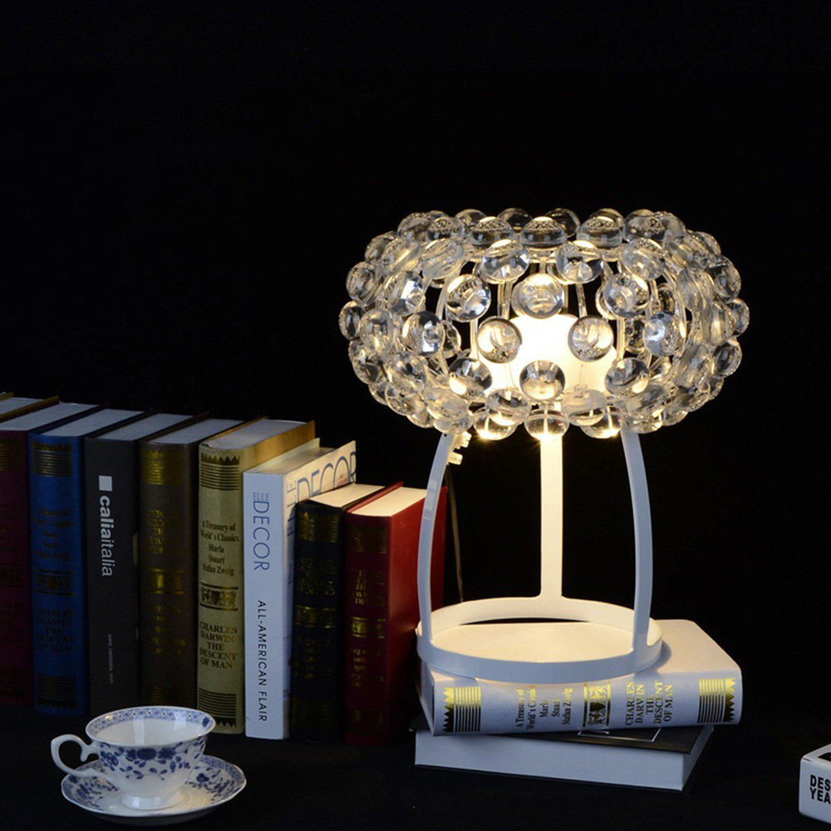 Stona lampa Caboche plus LED 311021-16 transparentna