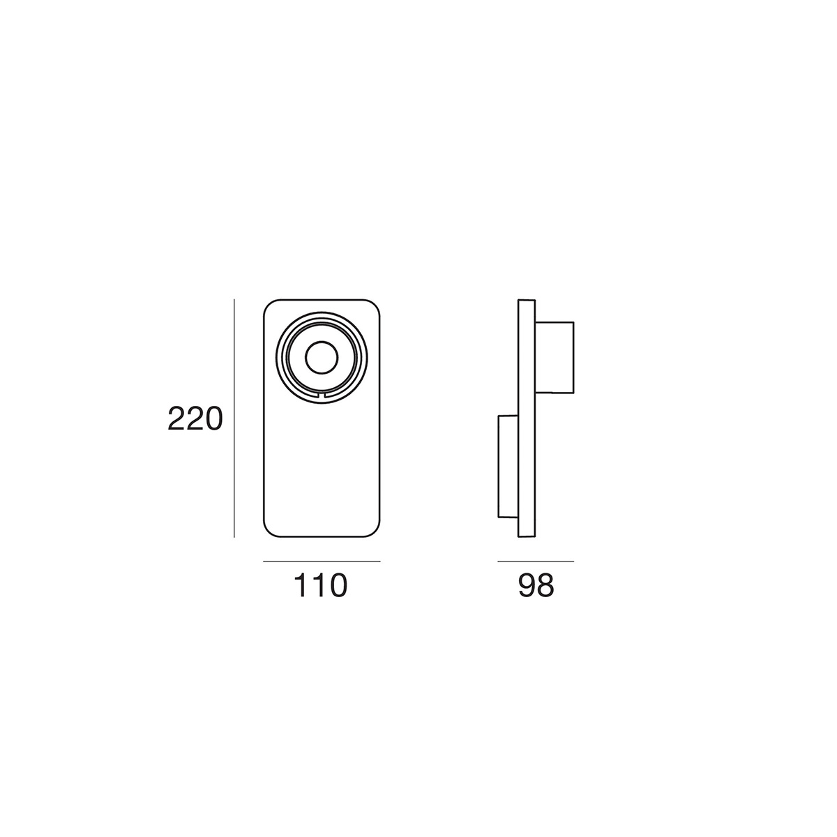 Zidna lampa Led- Beebo  Z-8460 bela