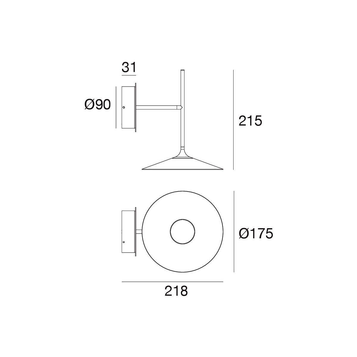 Zidna lampa POE crna - Z-8501