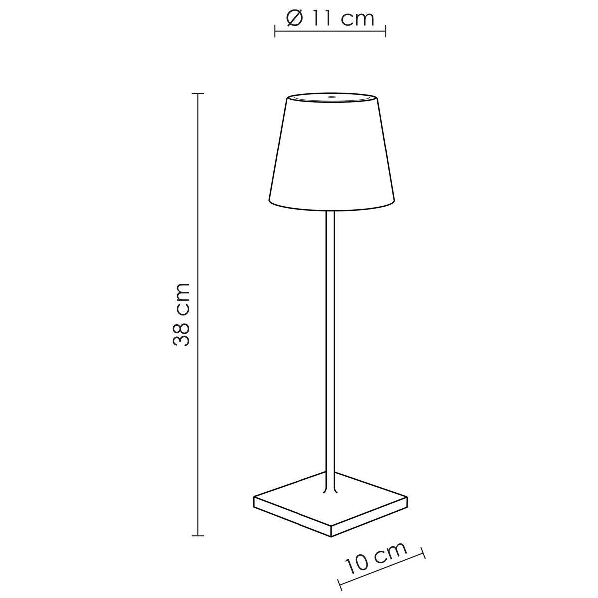 Stona lampa Poldina bela  LD0340B3