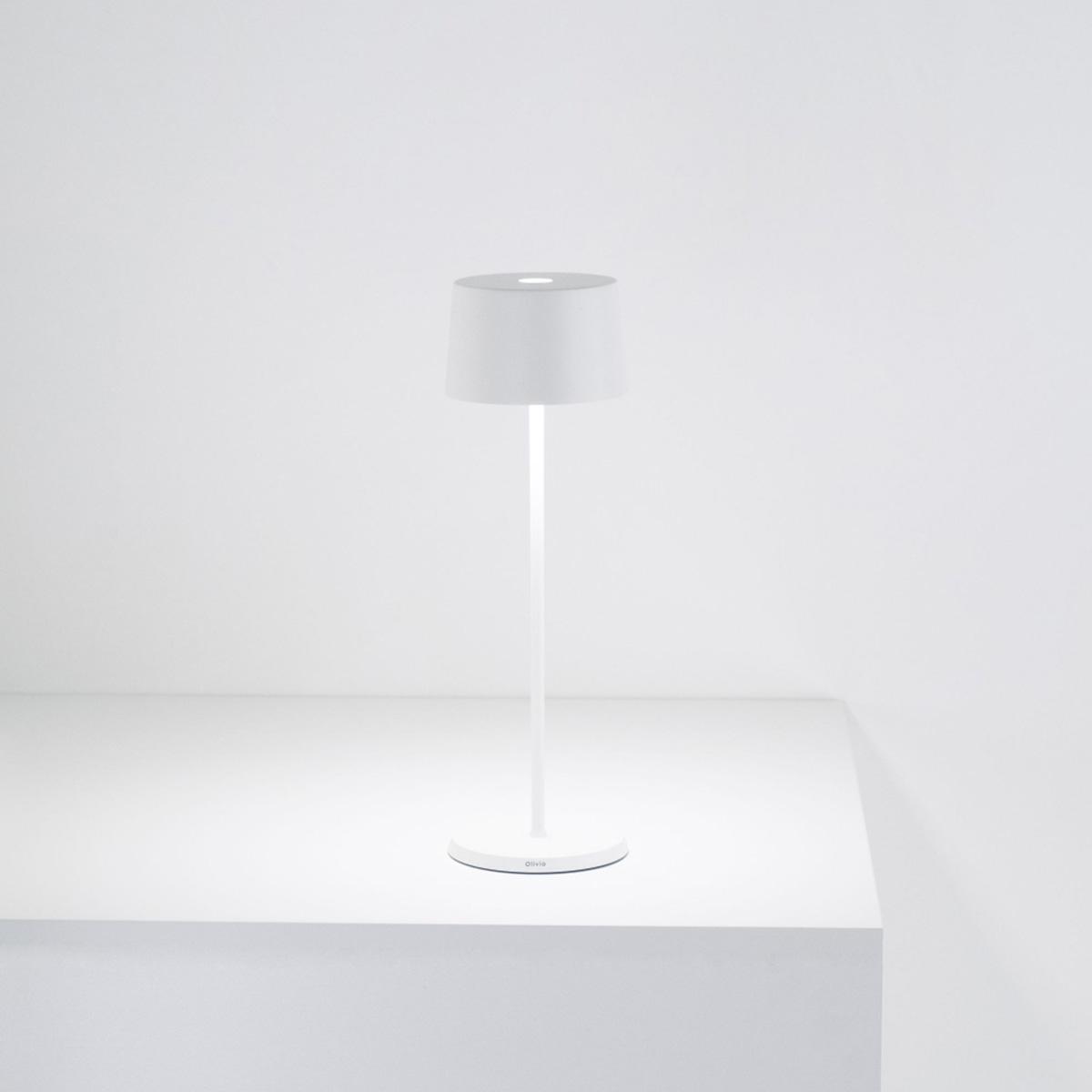 Stona lampa Olivia bela LD0850B3
