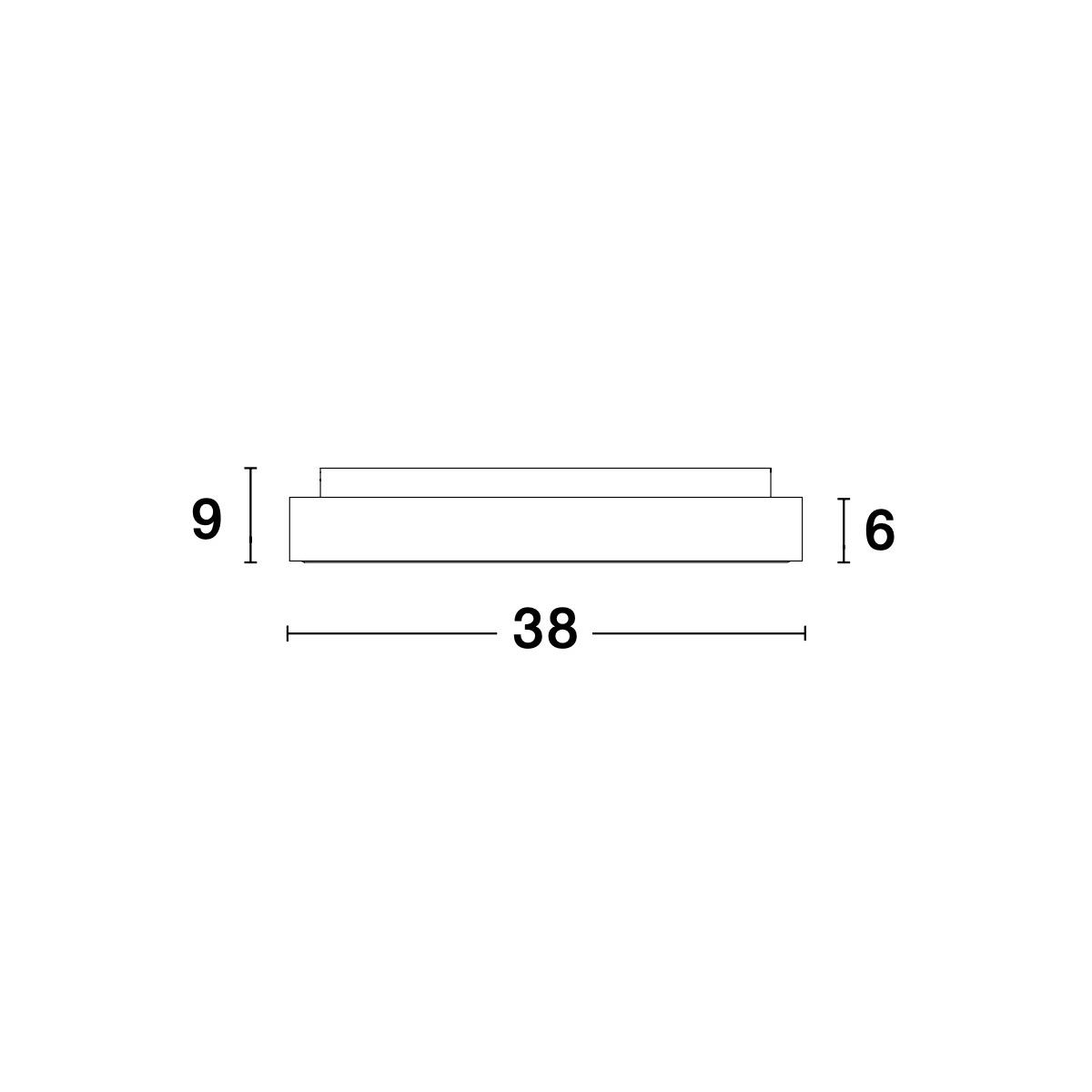 Led plafonjera Rando Thin 9353834 srebrna