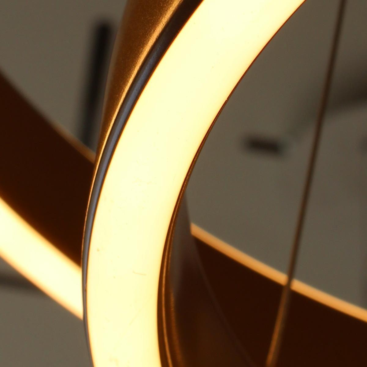 Led visilica krug zlatna 16.041.02