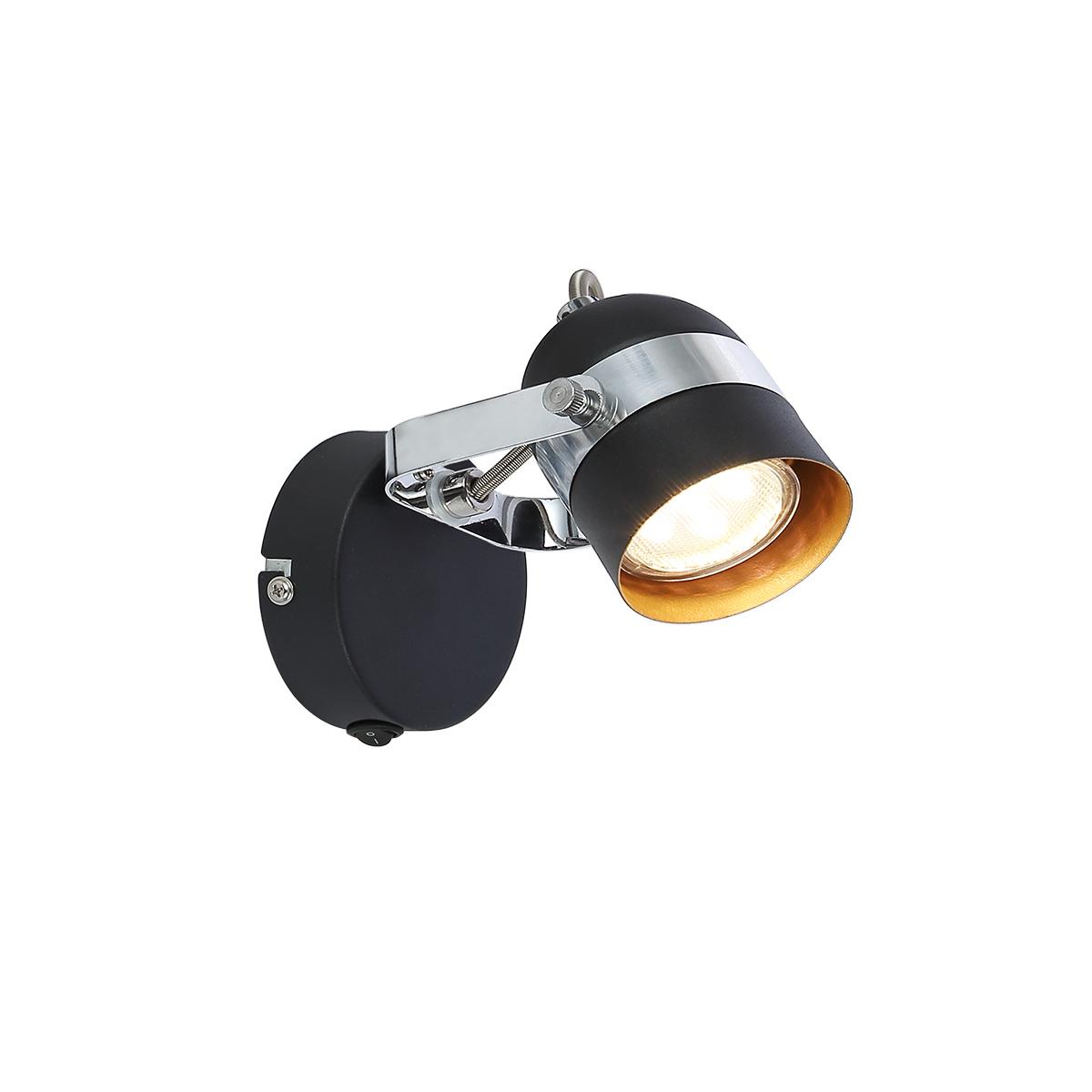 Spot lampa Alex/1  6602051 crna