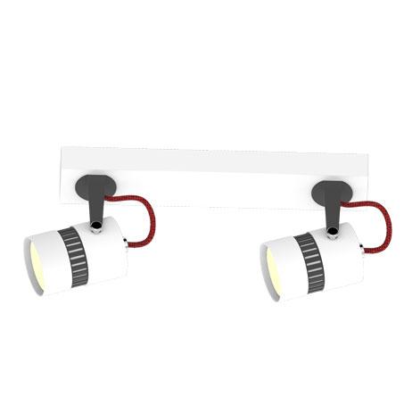 Spot lampa Reva/2 6601731 bela