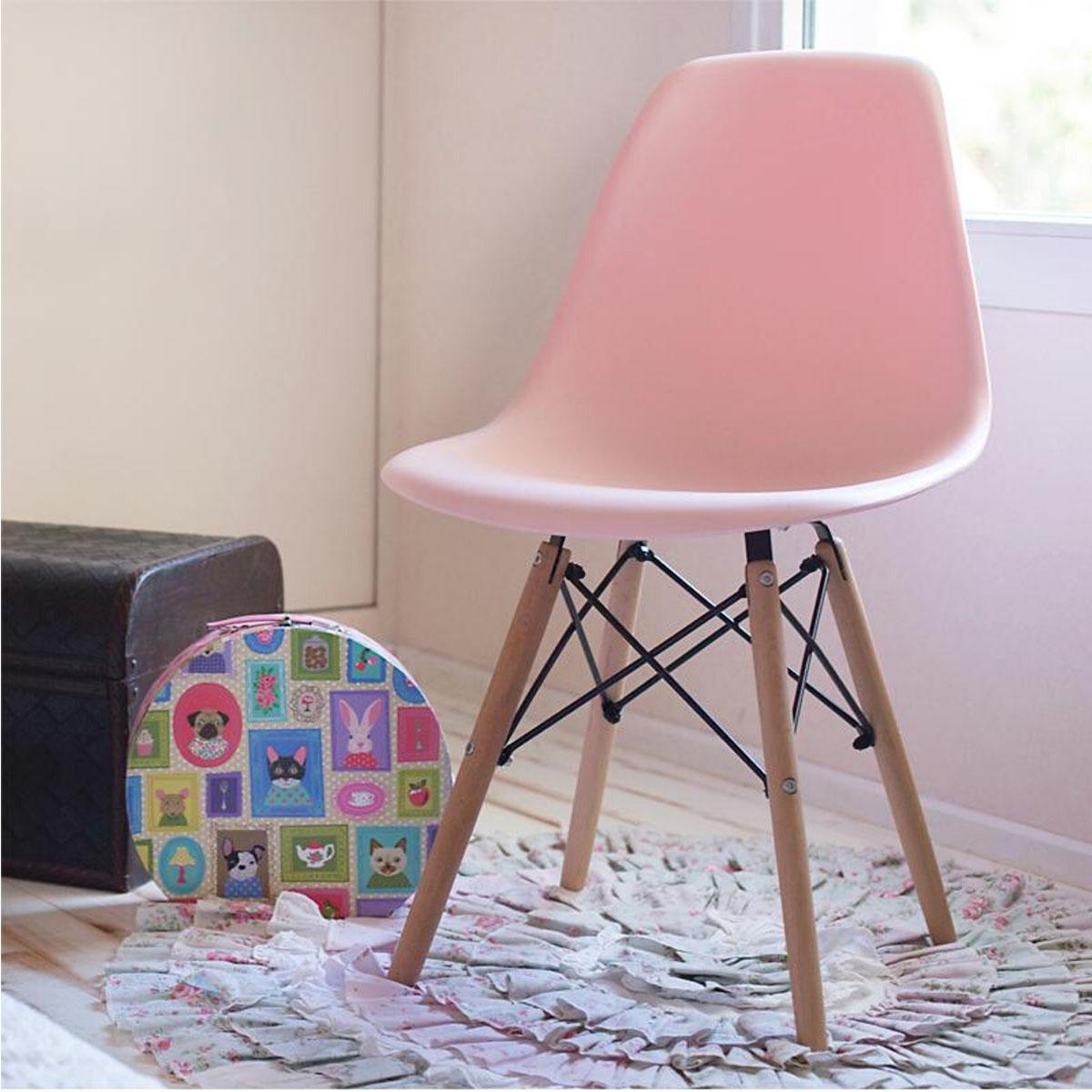 Plastična stolica roze CHJ-201D