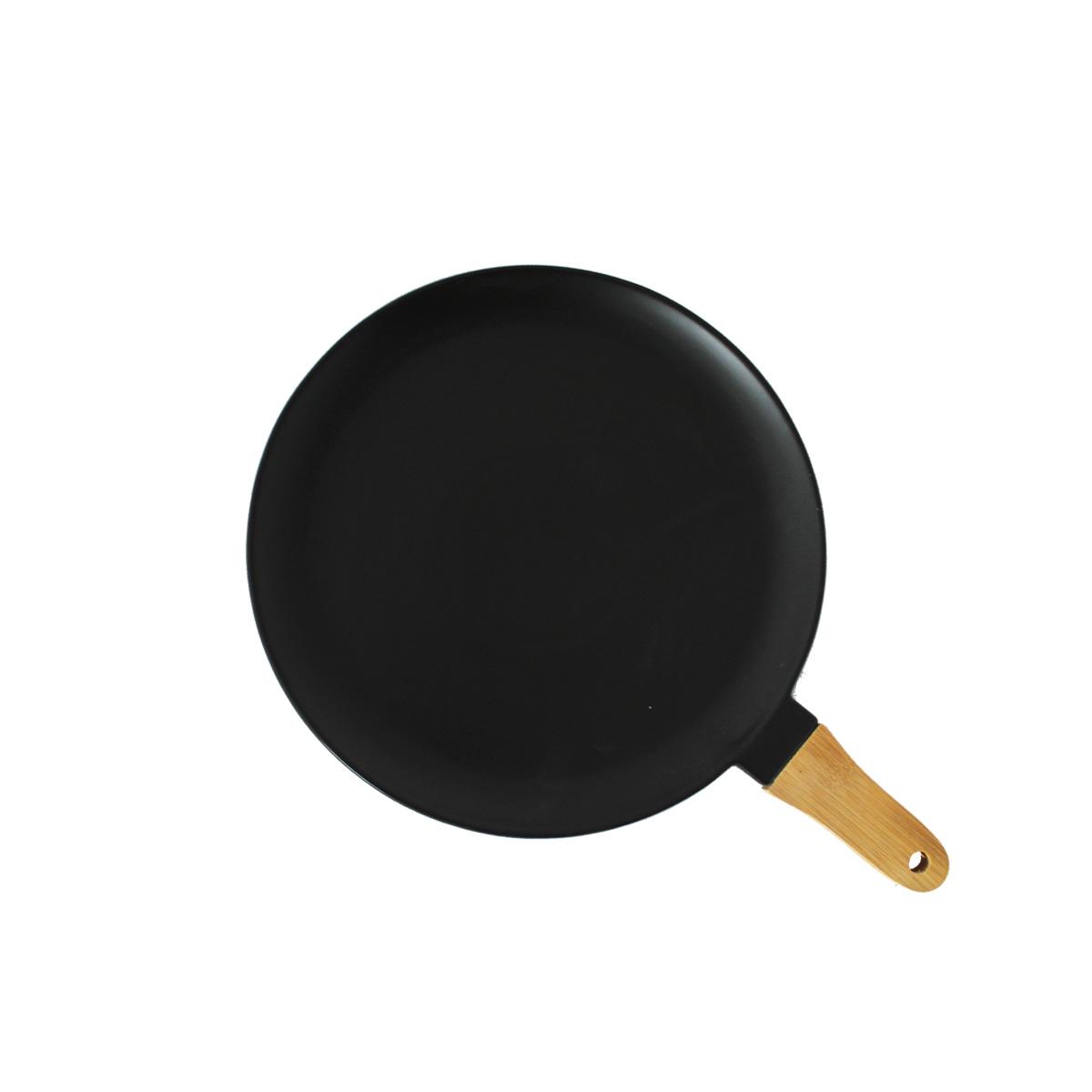 Keramički tanjir sa drvenom drškom  M  MUS-059