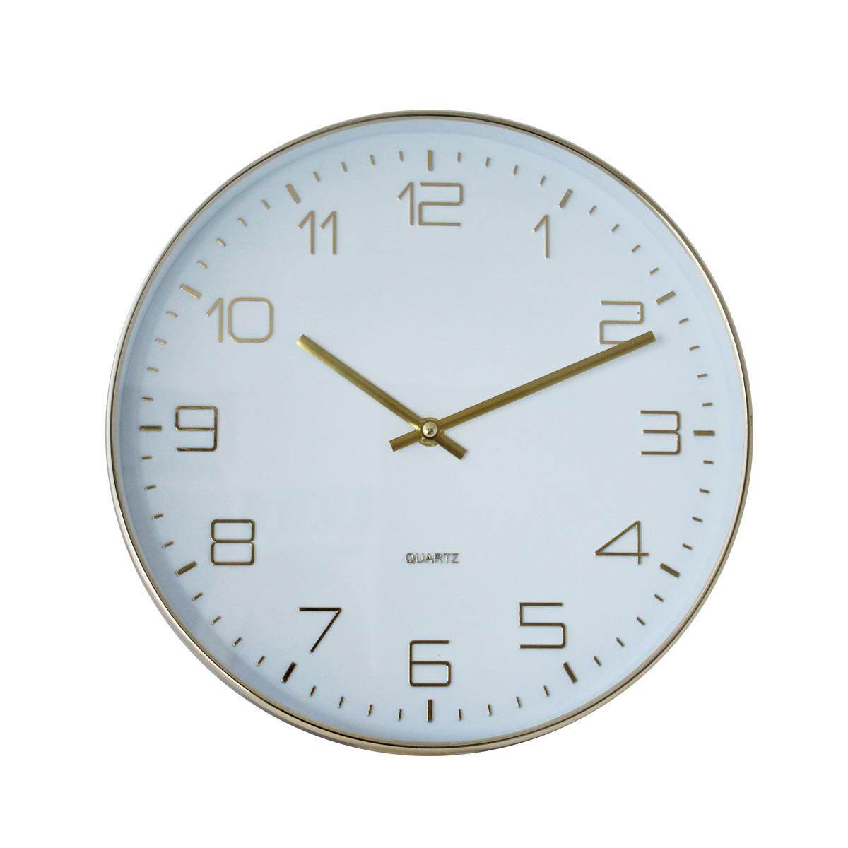 Zidni sat retro beli Ak-046