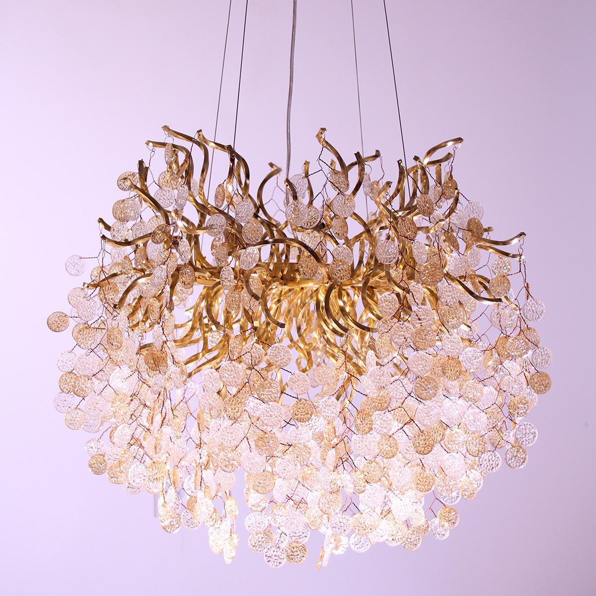 Kristalni luster Glamor 1.0076 zlatni