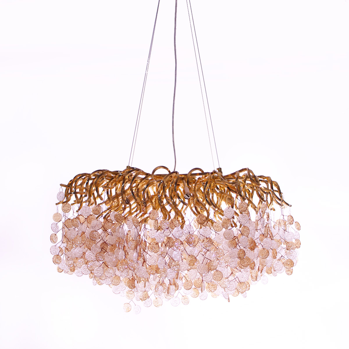 Kristalni luster Glamor 1.0077 zlatni