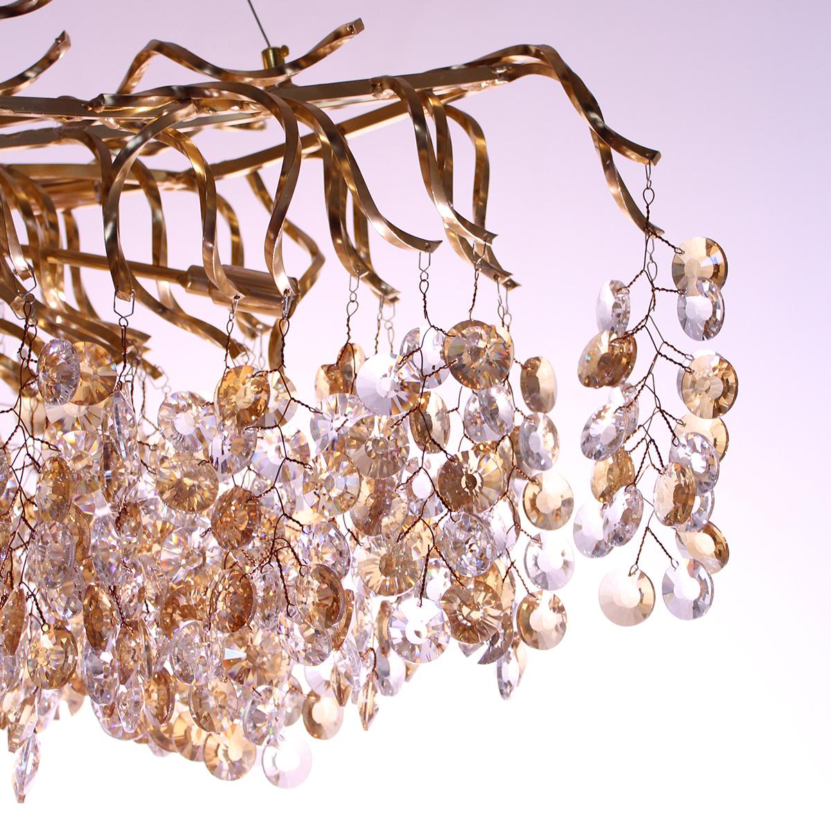 Kristalni luster Glamor 1.0078 zlatni