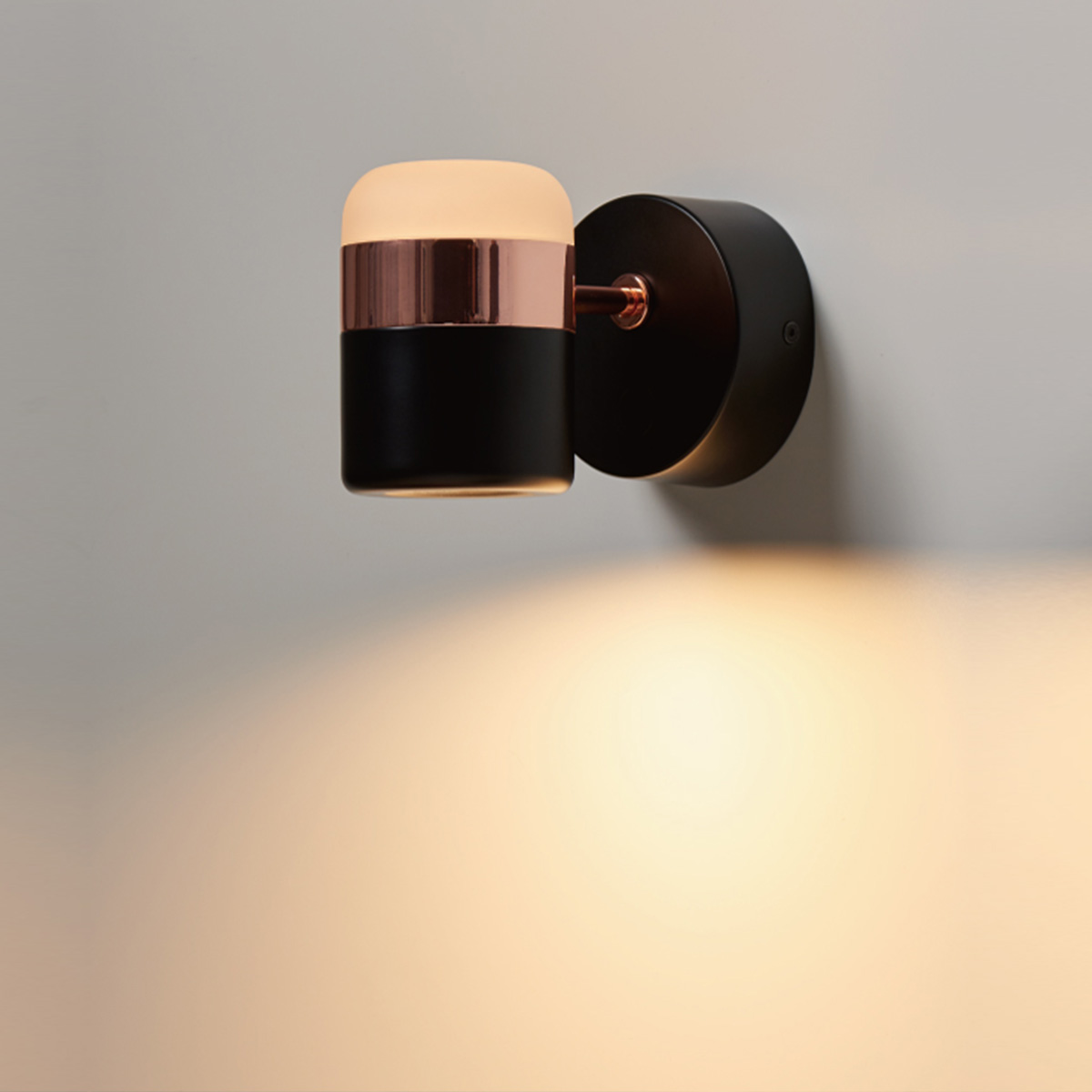 Zidna led lampa 1.0098 crno bakarna