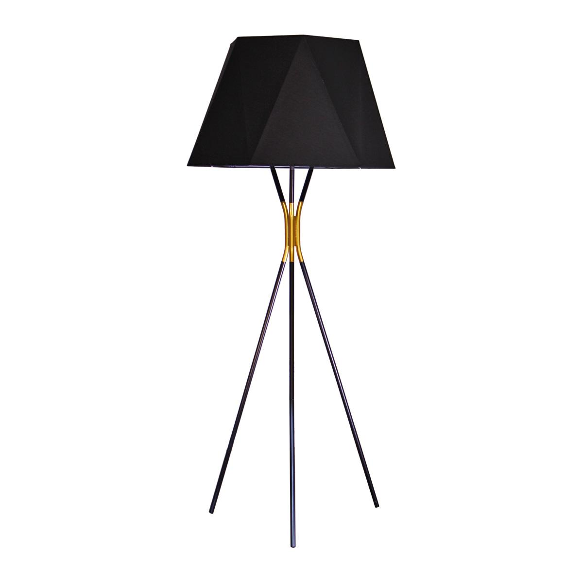 Podna lampa 1.0121 crno-zlatna